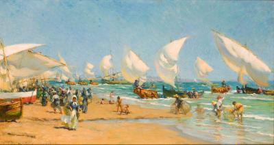Francis Luis Mora On The Beach Valencia