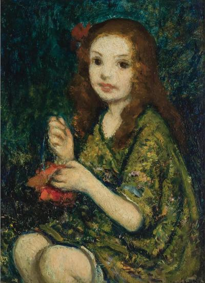 Francis Luis Mora Portrait of a young girl