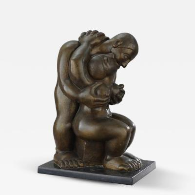 Francisco Arturo Marin Amantes II VII Bronze Sculpture by Francisco Arturo Marin