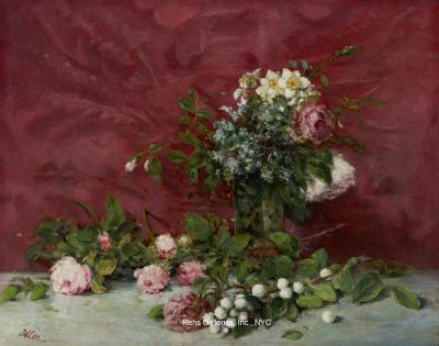 Francisco Manuel Oller y Cestero Still life of Flowers