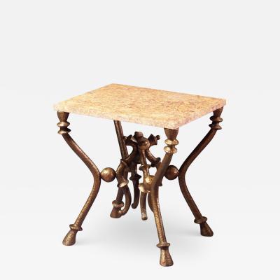 Franck Evennou Franck Evennou bronze and marble occasional table