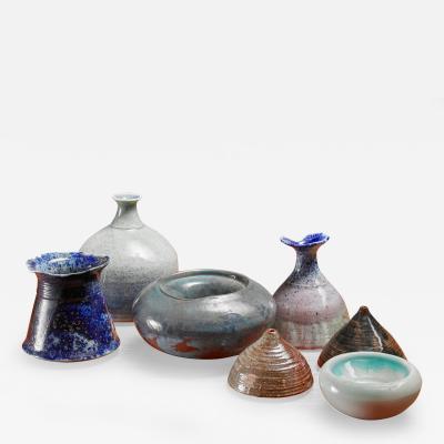 Franco Agnese Franco Agnese set of seven ceramic pieces France 1960s