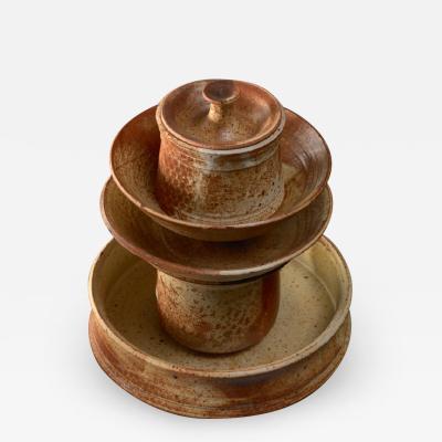 Franco Agnese Set of five Franco Agnese ceramic pieces