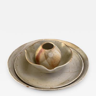 Franco Agnese Set of four Franco Agnese ceramic pieces France 1960s