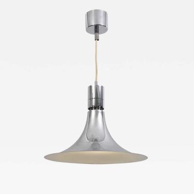Franco Albini CHROME METAL SUSPENSION LIGHT DESIGNED BY FRANCO ALBINI