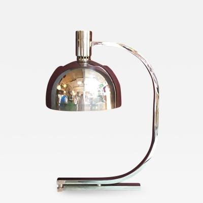 Franco Albini Chromed table lamp AM AS series by Franco Albini for Sirrah 1969