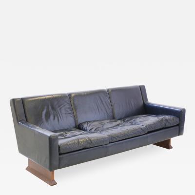 Franco Albini Franco Albini MidCentury Sofa for Poggi Model DV33 in leather black 1966