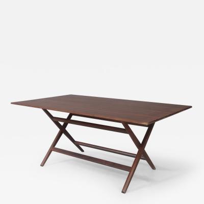 Franco Albini Franco Albini MidCentury Walnut trestle table Foldable from 1950s