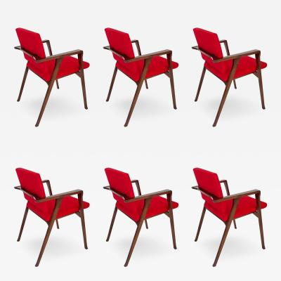 Franco Albini Franco Albini Set of Six Luisa Italian Dining Chairs for Poggi
