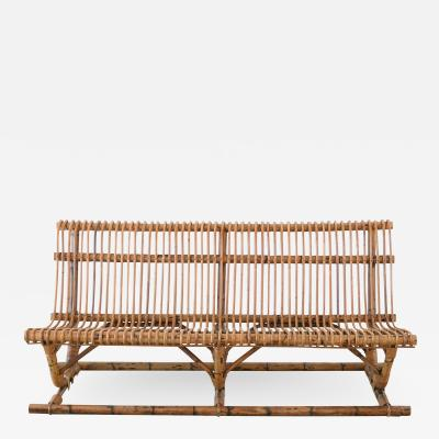 Franco Albini ITALIAN BAMBOO BENCH PAIR AVAILABLE