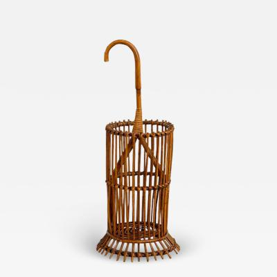 Franco Albini ITALIAN BAMBOO UMBRELLA HOLDER