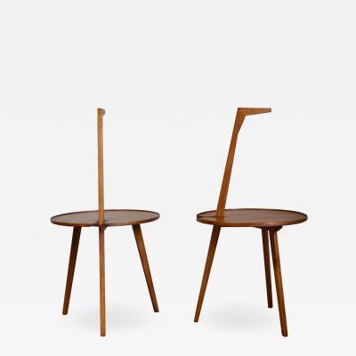 Franco Albini Paif of TN6 Cicognino tables by Franco Albini for Poggi Ist Series