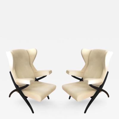 Franco Albini Pair of Fiorenza Lounge Chairs Design Franco Albini Manufactured by Arflex