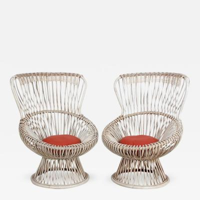 Franco Albini Pair of Margherita Chairs by Franco Albini