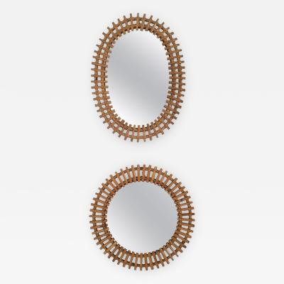 Franco Albini Pair of Wall Mirrors in the Style of Franco Albini Italy 1950s