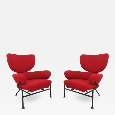 Franco Albini Pair of armchairs by Franco Albini Mod Tre pezzi PL19 for Poggi