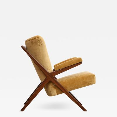 Franco Albini Rare 832 Lounge Chair by Franco Albini