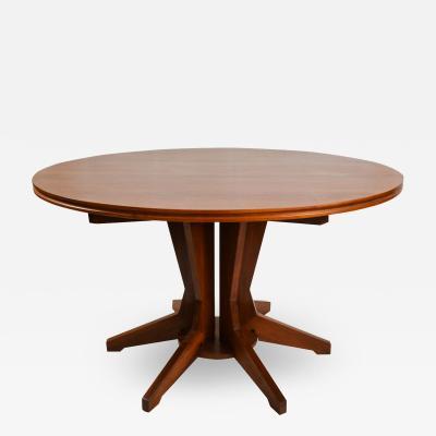 Franco Albini Round wooden table by Franco Albini for Poggi