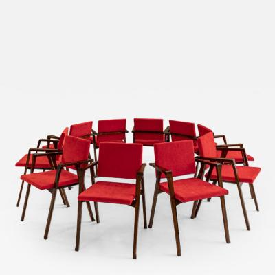 Franco Albini Set of 10 Luisa Chairs by Franco Albini