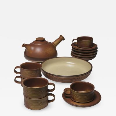Franco Bucci Ceramic Tea Set by Franco Bucci for Laboratorio Pesaro