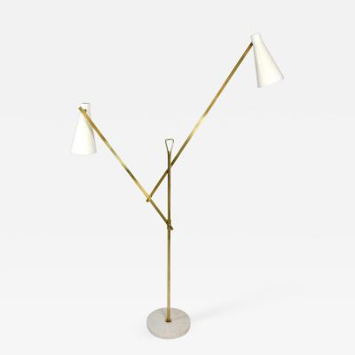 Franco Buzzi rare adjustable floor lamp