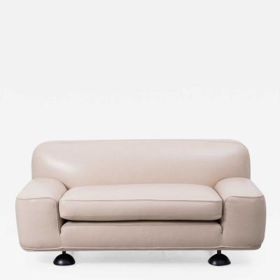 Franco Poli Franco Poli Altopiano two seater leather sofa Bernini Italy 1960s