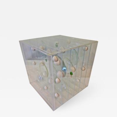 Franco Scuderi Lucite Art Piece by Franco Scuderi Italy 1970s
