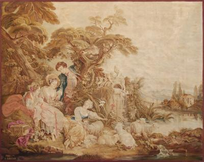 Francois Boucher 19th Century antique tapestry cartoon by Fran ois Boucher