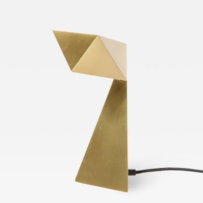 Francois Champsaur Brushed Brass Faceted Origami Lamp by Francois Champsaur for Holly Hunt
