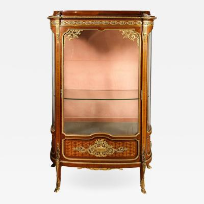 Francois Linke an Exceptional French Ormolu Mounted Kingwood Vitrine Cabinet