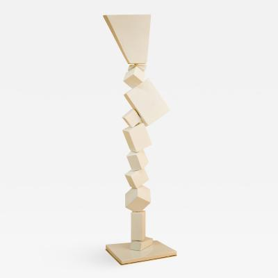Francois Salem White Cube Floor Lamp