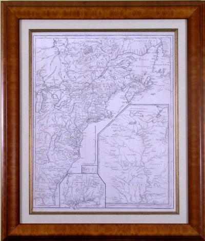 Francois Soules Carte dune Partie de lAmerique Septentrionale 1787
