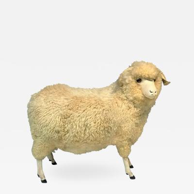 Francois Xavier Lalanne CHARISMATIC NATURAL WOOL LIFE SIZE SHEEP STATUE OTTOMAN