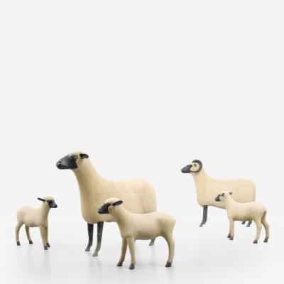Francois Xavier Lalanne Francois Xavier Lalanne Sheep Flock of 5