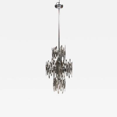 Francoise See Rare stainless steel Space age chandelier