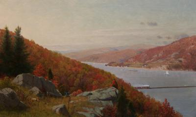 Frank Anderson Hudson River View in Autumn