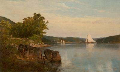 Frank Anderson Sailboats on the Hudson