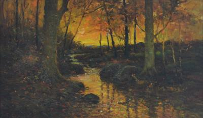 Frank Coburn Sunset in the Woods