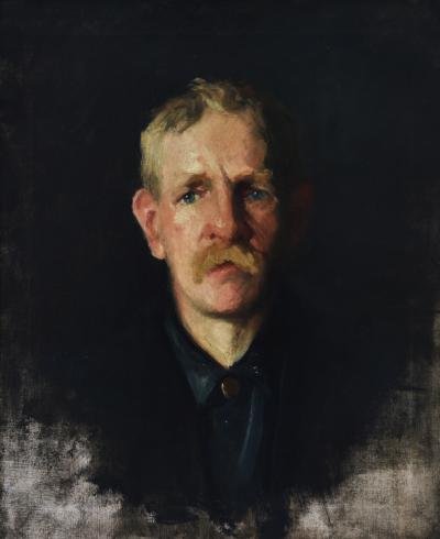 Frank Duveneck Portrait of a Blonde Man