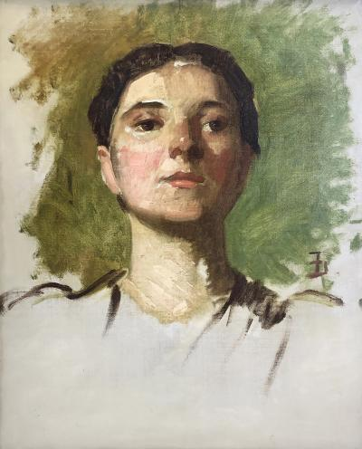 Frank Duveneck Portrait of a Woman II
