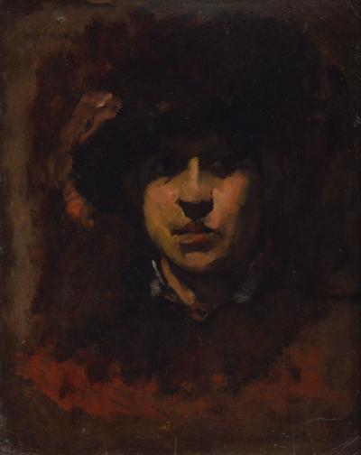 Frank Duveneck Women in Black Hat