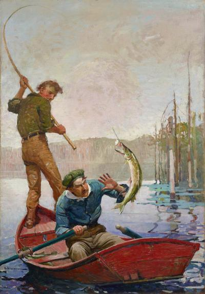 Frank Earle Schoonover Pickerel
