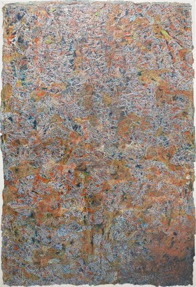 Frank Faulkner Large Frank Faulkner 1946 2008 Mixed Media on Linen in Frame