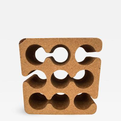 Frank Gehry Frank Gehry Easy Edges Cork and Corrugated Cardboard Nine Bottle Wine Rack
