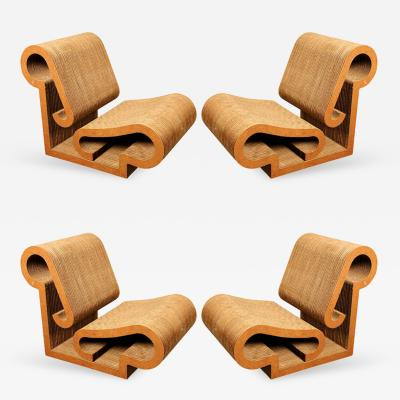 Frank Gehry Rare Set of 4 Contour Lounge Chairs Frank Gehry