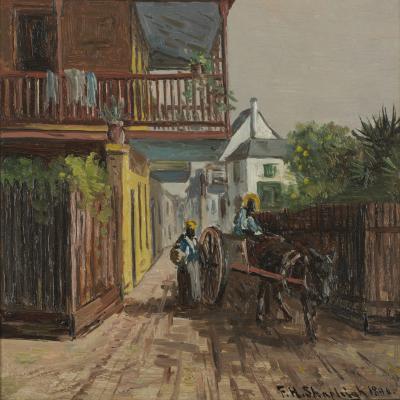 Frank Henry Shapleigh In St George Street St Augustine Florida 1891