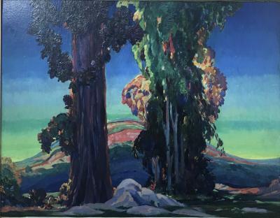 Frank Joseph Van Sloun Eucalyptus Trees in a California Landscape