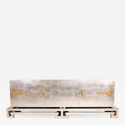 Frank Kyle Fabulous Frank Kyle Stunning Silver Leaf Credenza 1950s Mexican Modernism