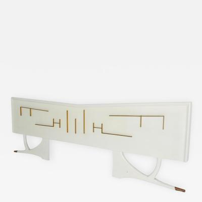 Frank Kyle Mid Century Mexican Modernist King Size Headboard Attributed Frank Kyle