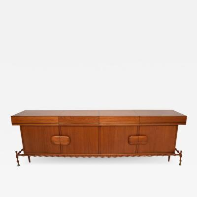 Frank Kyle Midcentury Mexican Modernist Floating Bamboo Credenza Frank Kyle 1960s
